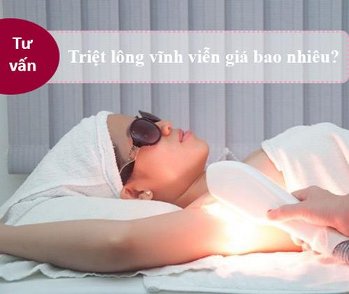 bảng giá triệt lông vĩnh viễn ở Bệnh viện thẩm mỹ Kangnam