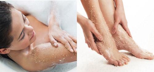 cách sử dụng muối tắm trắng