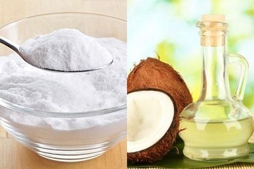 Tẩy lông nách bằng baking soda và dầu dừa