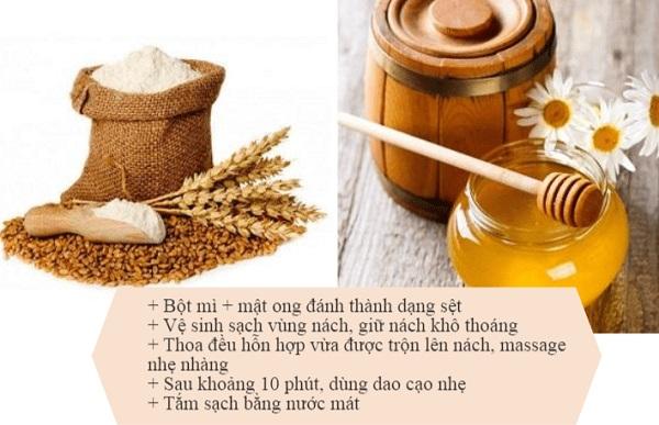 Cách nhổ lông nách bằng bột mì và mật ong