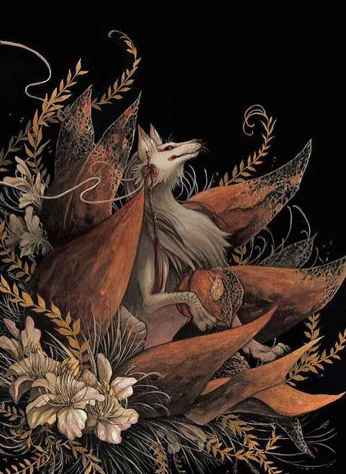 hình xăm cáo 9 đuôi
