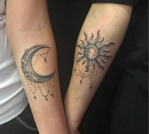 ý nghĩa hình xăm mặt trời và mặt trăng