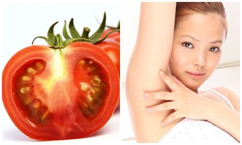 tẩy lông nách bằng cà chua