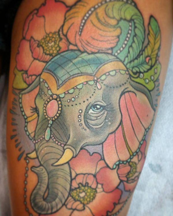 hình xăm con voi có ý nghĩa gì