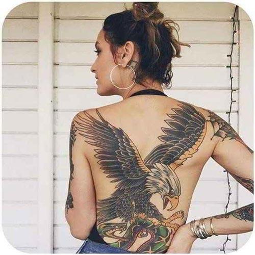 hình xăm đại bàng kín lưng