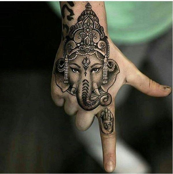 hình xăm voi ở tay