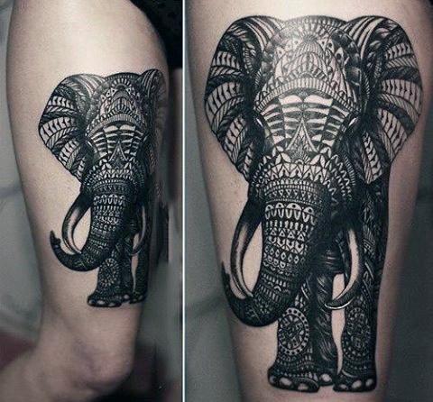 hình xăm voi ở trên bắp tay