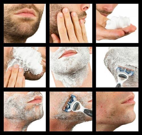 Cạo lông mặt đúng cách