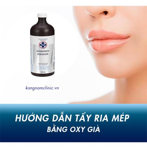 cách tẩy ria mép bằng oxy già