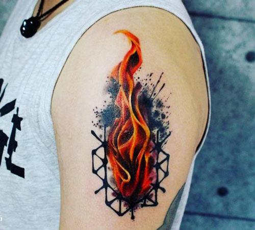 thiết kế hình xăm ngọn lửa