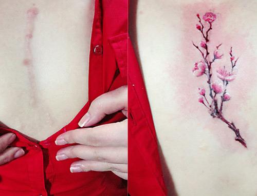 hình xăm hoa nhỏ đẹp cho nữ