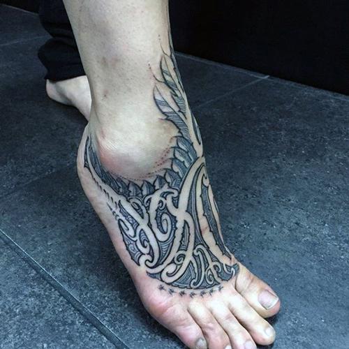 hình xăm chân đẹp cho nam