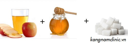 tẩy lông chân bằng đường và mật ong