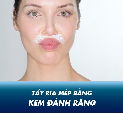Cách tẩy ria mép bằng kem đánh răng