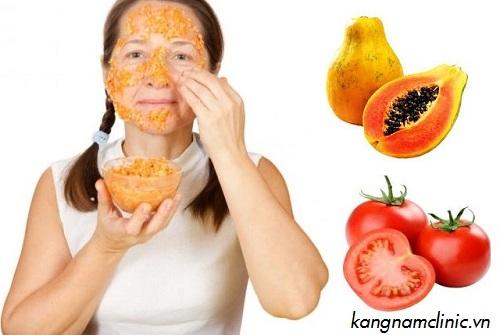 triệt lông mặt bằng cà chua