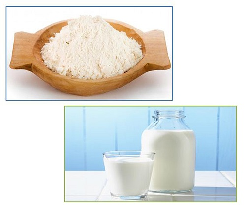tắm trắng bằng nước vo gạo và sữa tươi