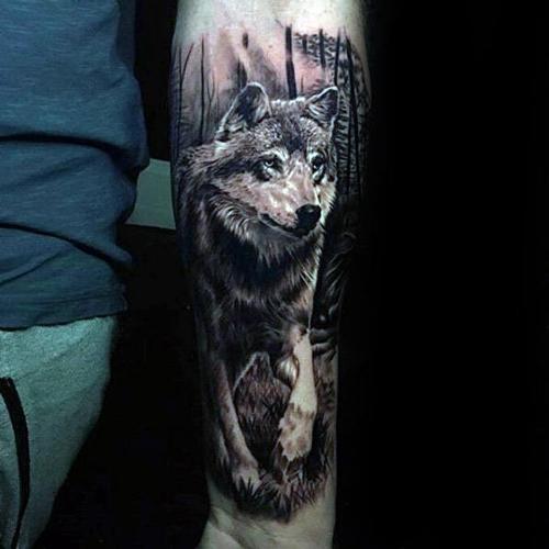 xăm hình đầu sói