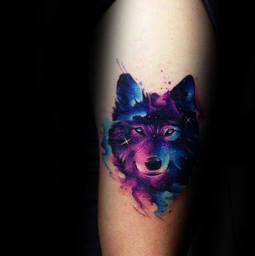 hình xăm chó sói ở tay