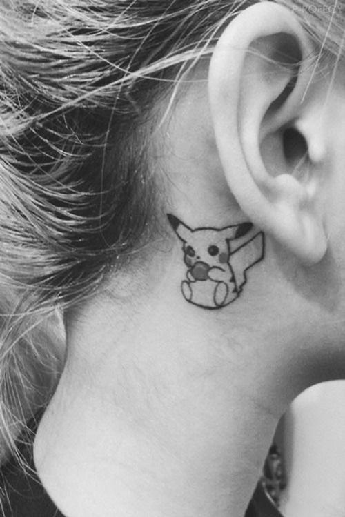xăm hình pikachu nhỏ