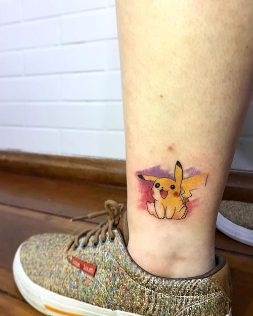 xăm hình pikachu đáng yêu