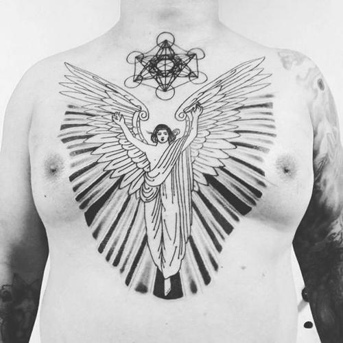 hình xăm đôi cánh thiên thần nhỏ