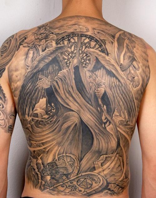 hình xăm thiên thần và ác quỷ đẹp