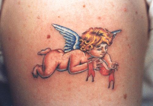 hình xăm em bé thiên thần