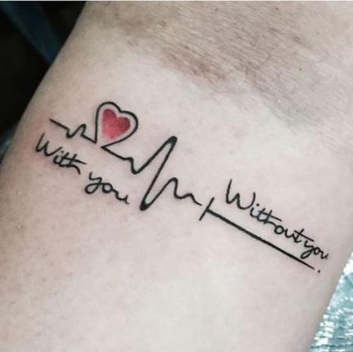 hình xăm trái tim mini