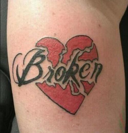 hình xăm trái tim ở lưng