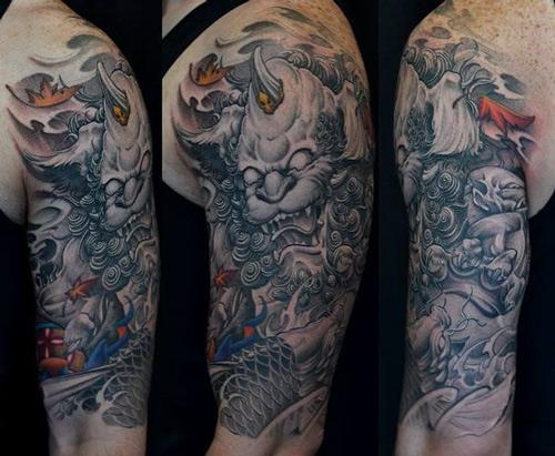Tattoo kì lân tứ linh