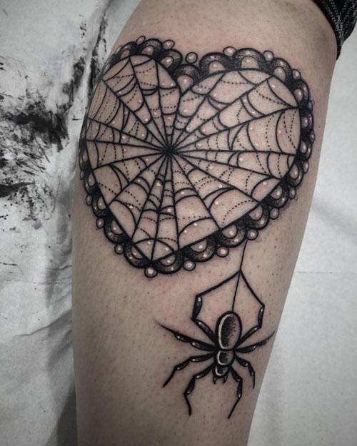 hình xăm con nhện 3d