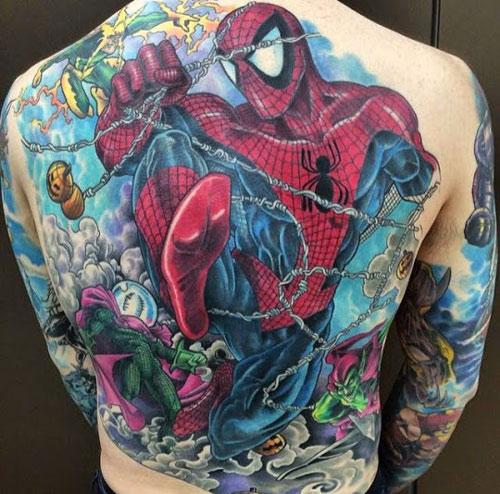 hình xăm nhện ở lưng