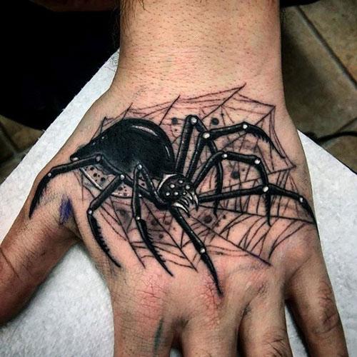 hình xăm con nhện nhỏ