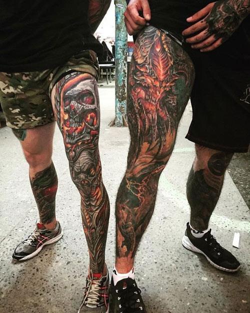 hình xăm chân yakuza
