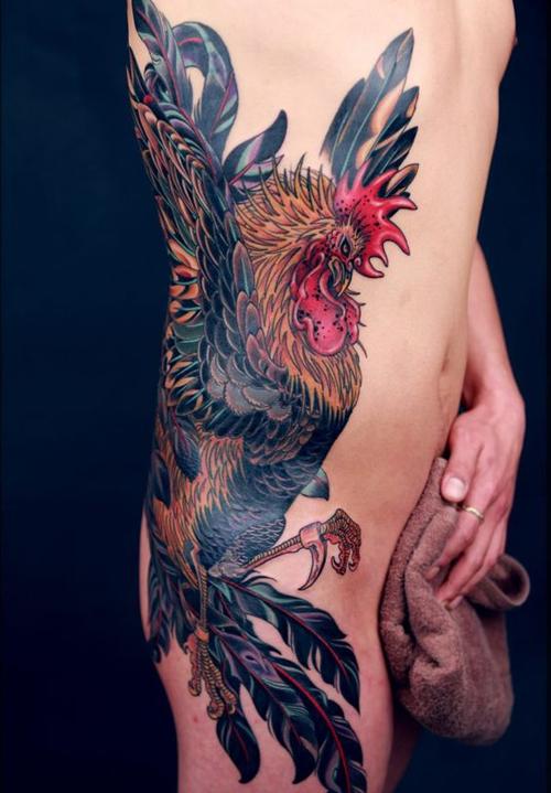 xăm hình con gà