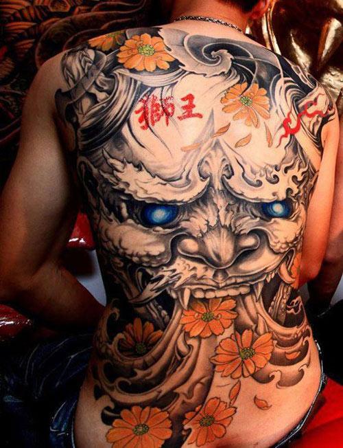 những hình xăm yakuza kín lưng