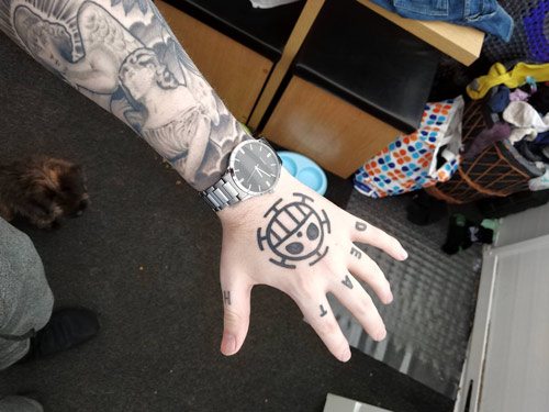 tattoo one piece hand