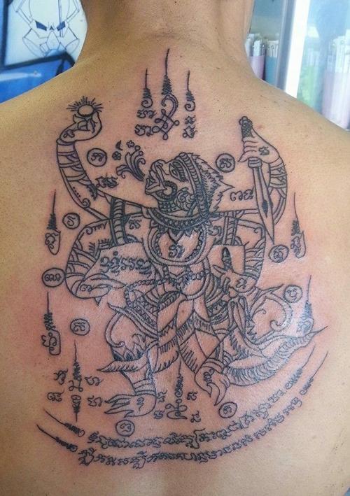 xăm khmer sau lưng