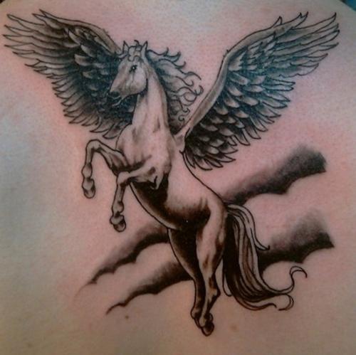 hình xăm ngựa kín lưng