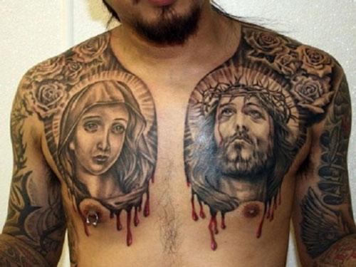 hình xăm công giáo đẹp