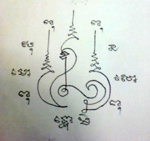 Na Hnaa Tong Yant khmer tattoo