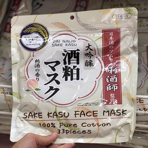 mặt nạ sake kasu face mask 33 miếng review